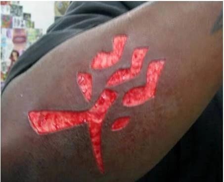 Scarification tattoo aggouria