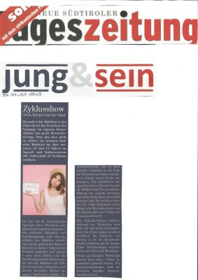 Tageszeitung_Zyklusshow- dem Körper au fer Spur_29.06.19