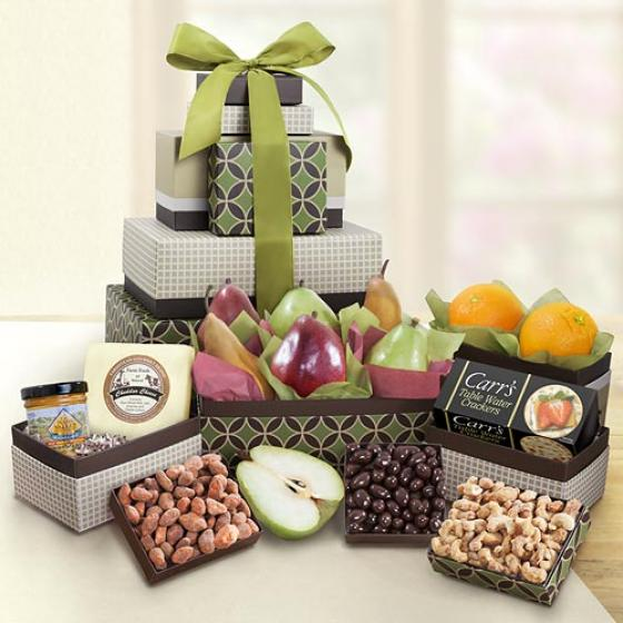 Gracious Giver Fruit And Gourmet 7 Box Tower AT0230 A