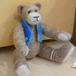 Felted teddy