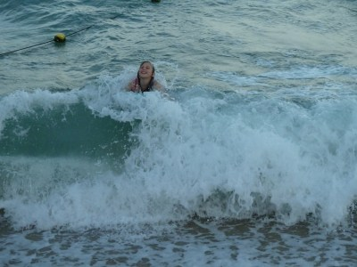 Agi K learning to bodyboard