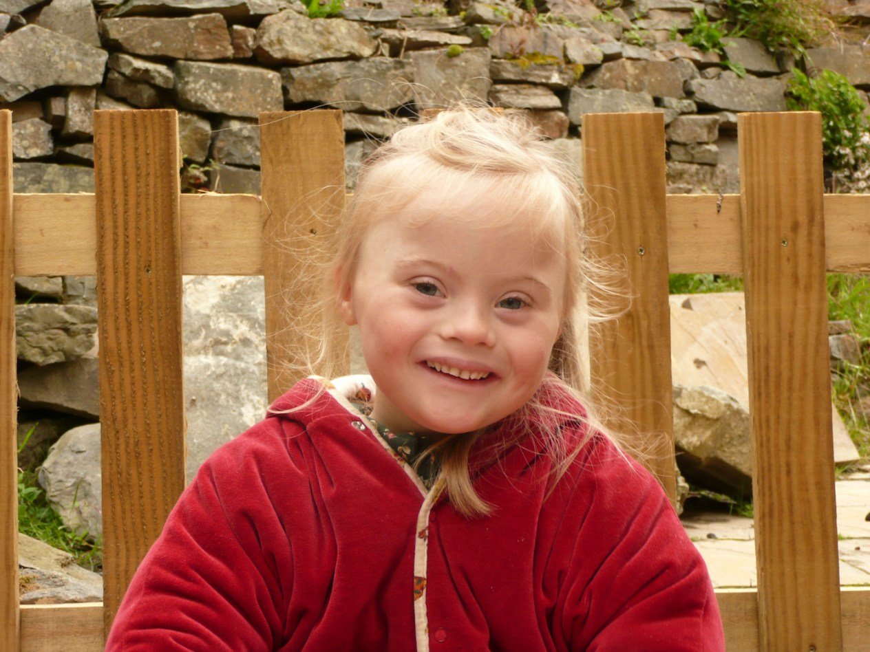 Magdalena, my beautiful 6 year old sister with Down's Syndrome