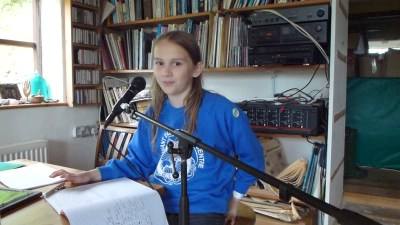 Agi K writing and singing songs 2012