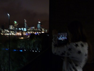 Making a music video on the balcony of the Tate Modern after the NYFF ceremony