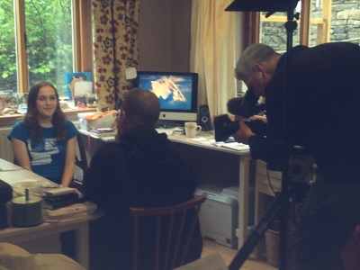 ITV Wales interviewing me for the news