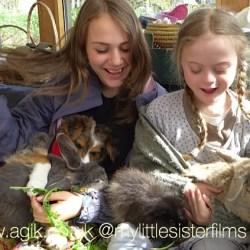 Agi K and Magdalena with pets