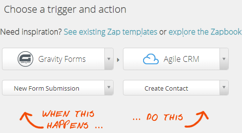 Web Forms Automation with Zapier and Agile CRM