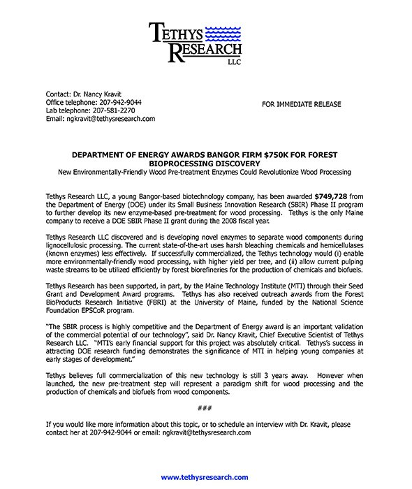 Small business press release