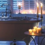candles and tub