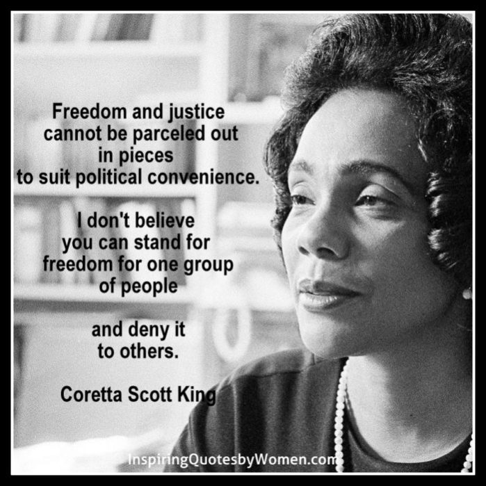 Inspiring Quotes By Coretta Scott King The Aging Abundantly Community Magnificent Coretta Scott King Quotes