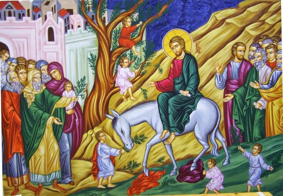 Ἅγιος Γρηγόριος ὁ Παλαμᾶς: Εἰς τήν Κυριακή τῶν Βαΐων