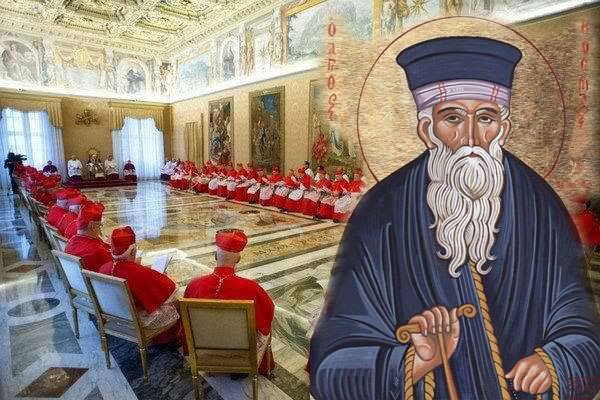 """Toν Πάπαν να καταράσθε"" «Οι Προφητείες Του Αγίου Κοσμά Του Αιτωλού Μέσα Στην Ιστορία» της  Ευθυμίας Μοναχής,  Ηγουμένης της Ιεράς Μονής Αγιού Κοσμά του Αιτωλού Μεγαδένδρου Θέρμου."