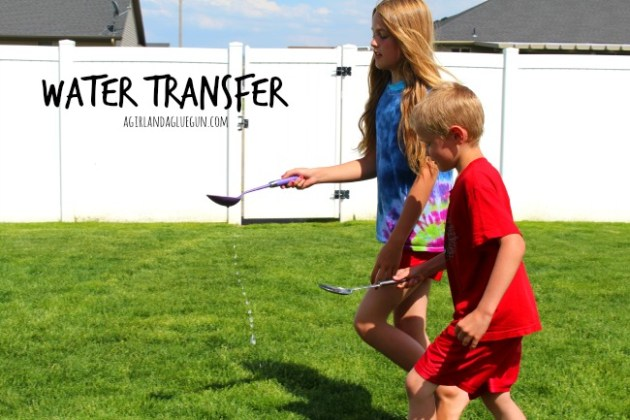 Outdoor games to play in SUMMER keep those kids active    A girl and     water transfer  fun summer games
