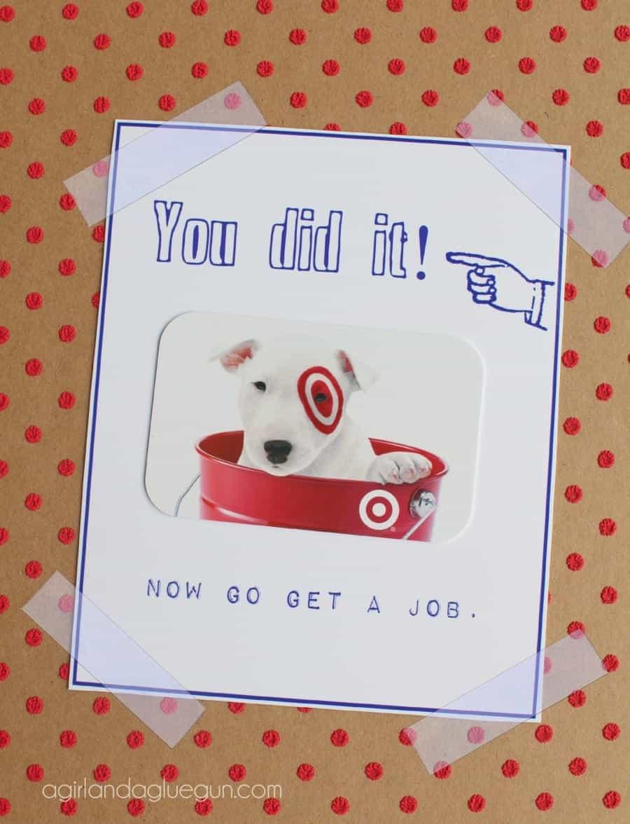 Free Graduation Card Printable A Girl And A Glue Gun