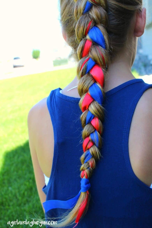 Fourth Of July Hair A Girl And A Glue Gun