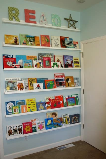 Kids Book Storage A Girl And A Glue Gun