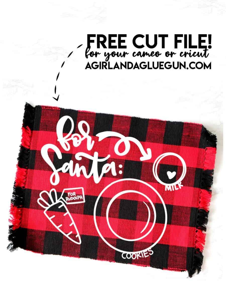 Download Santa's Cookie Plate SVG Cut file - A girl and a glue gun
