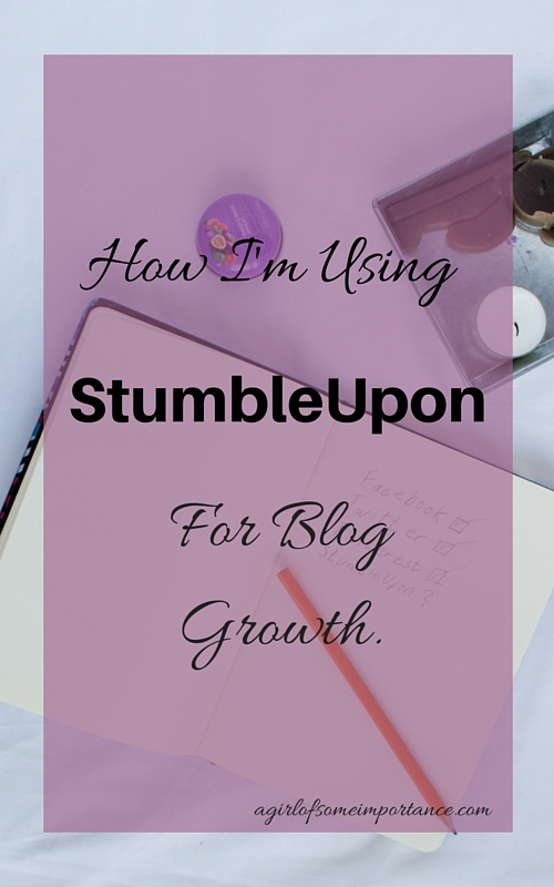 How I'm Using StumbleUpon For Blog Growth