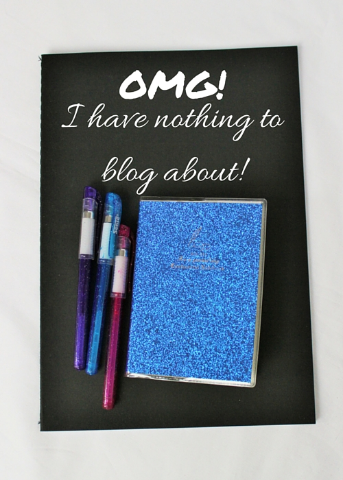 I have nothing to blog about!