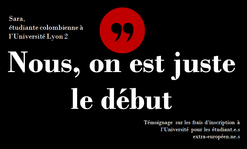 « Bienvenue favorisés » VS « Au-revoir précaires et descendants de colonisés » : Frais d'inscription pour les étudiant.e.s extra-européen.ne.s