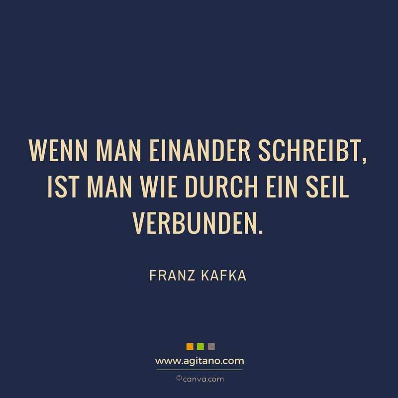 Franz Kafka Wenn Man Einander Schreibt Agitano