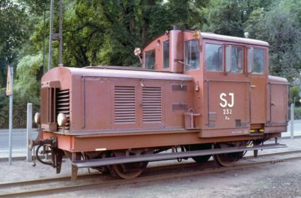SJ Z4p 232 i Kalmar 1972-08. Foto: S-O Thyrelius