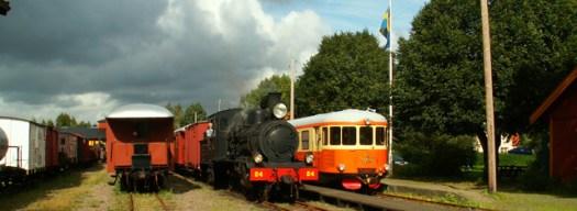 Antens station med tågmöte 2006-08-20 Foto: Stefan Lindberg