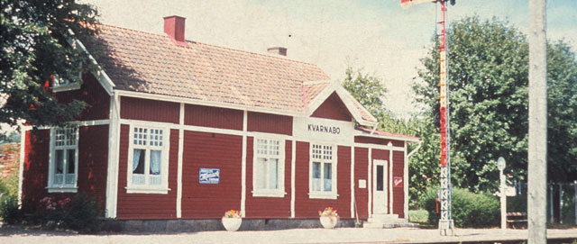 Kvarnabo station på 1970-talet. Foto: Ur AGJ arkiv
