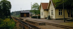 Essunga stations på 1970-talet. Foto: Ur AGJs arkiv