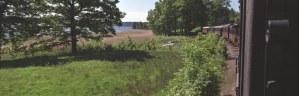 Utsikt över sjön Anten från tåget. Foto: René Pabst