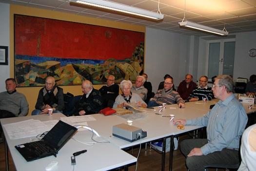 Möte med VGJ-veteraner i Göteborg 2013-03-19. Kvinnan i mitten är Grete Söderling Wallin. Foto: Patrik Engberg