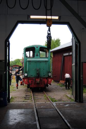 HBA 2 rullas in i verkstaden. Foto: Patrik Engberg