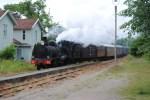 Ångtåget med VGJ 24 ankommer till Kvarnabo