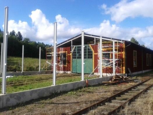 Museihallens utbyggnad har startat, stomresningen har startat. Foto: Lars Johansson