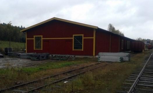 Museihallen utvändigt efter bygget. Foto: Lars Johansson