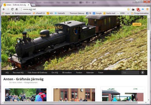 Nytt utseende på AGJ hemsida