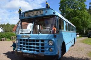 Spårvägssällskapet Ringlinien på besök med en gammal Scaniabuss. Foto: Yngve CG