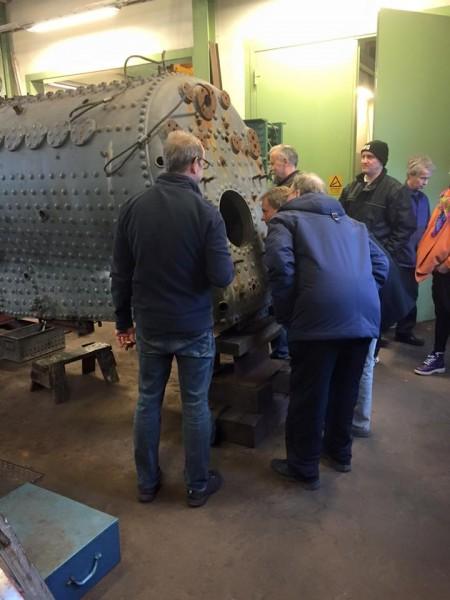 Pannans uppbyggnad förevisades på pannan till VGJ 31
