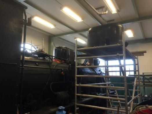 Arbete på VGJ 24 i verkstaden. Foto: Patrik Engberg