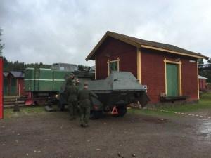 Skepplanda hemvärnsförening visade upp en så kallad KP-bil. Foto: Patrik Engberg
