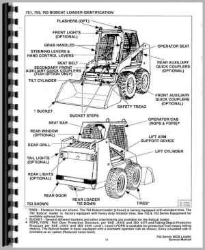 Bobcat 773 Skid Steer Loader Service Manual