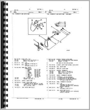 International Harvester 574 Tractor Engine Parts Manual