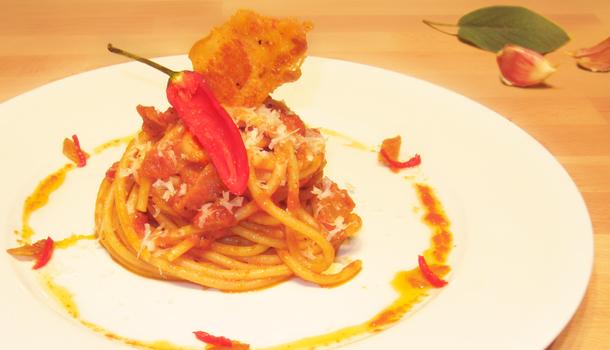 Bucatini with Matriciana Sauce