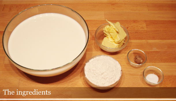 Béchamel Sauce - the ingredients