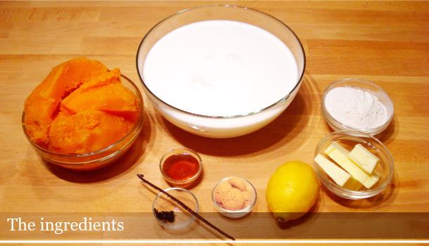 Zuf: a pumpkin soup from Friuli Venezia Giulia. The ingredients