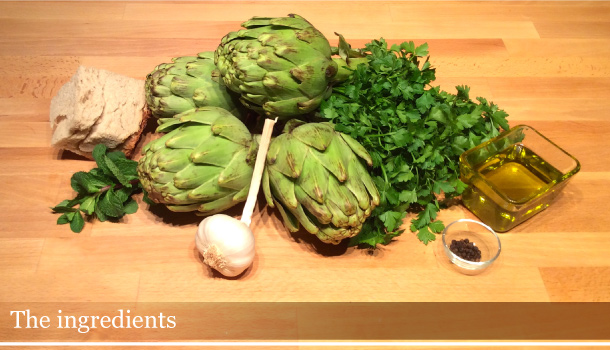 Artichokes alla romana - Carciofi alla romana: the ingredients