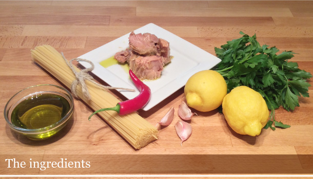 """Spaghetti with Tuna and Lemon Sauce"" recipe - ""Spaghetti al Tonno e Limone"""