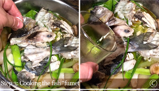 """Fish Fumet"" recipe - ""Fumetto di Pesce"""