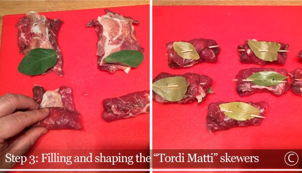 """""""Pappardelle with Tordi Matti Skewers"""" recipe - """"Pappardelle ai Tordi Matti"""""""