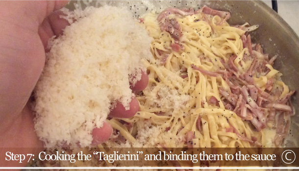 """Taglierini pasta with San Daniele Ham and Poppy Seeds Sauce"" recipe"